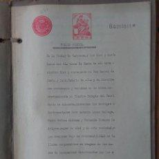 Sellos: W65-ESCRITURA DOCUMENTO COMPLETO SELLOS FISCALES CARAVACA MURCIA 10 PESETAS CLASE 4ª. 1910 Y OTROS S. Lote 95733260
