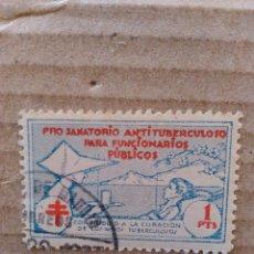 Sellos: PRO-SANATORIO ANTITUBERCULOSO PARA FUNCIONARIOS PUBLICOS. 1 PTA.. Lote 95829119