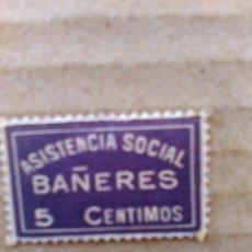 Sellos: BAÑERES. ASISTENCIA SOCIAL. 5 CTS.. Lote 95829339