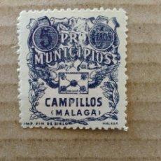 Sellos: CAMPILLOS. PRO-MUNICIPIOS. 5 CTS.. Lote 95829927