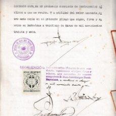 Sellos: 1936 COLEGIO NOTARIAL CATALUÑA SELLO FISCAL LEGALIZACION 6 PTS REPUBLICA ESPAÑOLA EN ESCRITURA. Lote 95862135