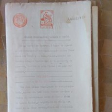 Sellos: W68-50 PESETAS CLASE 2ª. 1926.UNICO PARA VENTA ESCRITURA DOCUMENTO COMPLETO SELLOS FISCALES CARAVACA. Lote 95893079