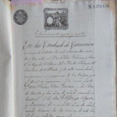 Sellos: W71-BELLA ESCRITURA DOCUMENTO COMPLETO SELLOS FISCALES CARAVACA MURCIA 1893 Y OTROS SELLOS.SON 16 PA. Lote 95925851