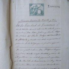Sellos: W77-1879 MUCHOS SELLOS IMPUESTO GUERRA,UNICO PARA VENTA ESCRITURA GRAN DOCUMENTO COMPLETO SELLOS FIS. Lote 95929843