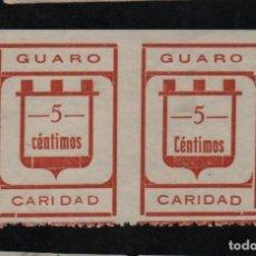 Sellos: GUARO, PAREJA SIN DENTADO VERTICAL, C CHICA Y C GRANDE DE CTS, VER FOTO. Lote 95939755