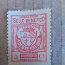 Sellos: FUENTE OVEJUNA. SELLO BENÉFICO. 5 CTS.. Lote 95959295