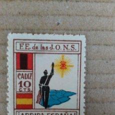Sellos: CADIZ. ARRIBA ESPAÑA. F.E. DE LAS JONS. 1O CTS.. Lote 95969879