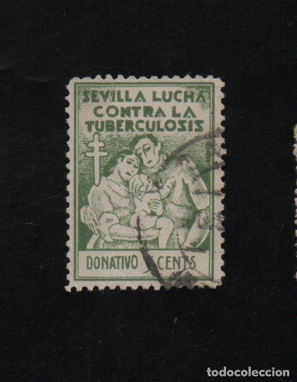 SEVILLA, 5 CTS, VERDE, VER FOTO (Sellos - España - Guerra Civil - De 1.936 a 1.939 - Usados)