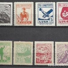Sellos: 7754-ESPAÑA GUERRA CIVIL SELLOS NUEVOS** LUGO PRO COMBATIENTES MOTIVOS GUERRA,1937.LOCALES.SPAIN CIV. Lote 96075495