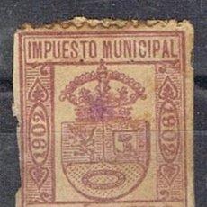 Sellos: 0220. SELLO MUNICIPAL MADRID 1902. 25 CTS, IMPUESTO LOCAL FISCAL º. Lote 96098543
