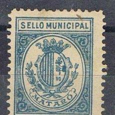 Sellos: 0220. SELLO MUNICIPAL MATARO (BARCELONA) 1917, 10 CTS, IMPUESTO LOCAL FISCAL *. Lote 96100079