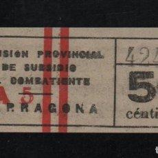 Sellos: TARRAGONA. 50 CTS. SUBSIDIO AL COMBATIENTE, VER REVERSO Y FOTOS. Lote 96426091