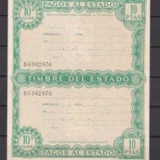 Sellos: ,,,FISCAL TIMBRE DEL ESTADO, 10 PTAS. COMPLETO SIN USAR. Lote 96778311