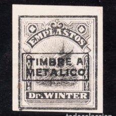 Sellos: ,,,FISCAL VIÑETA TIMBRE A METALICO, EMPLASTOS DR. WINTER, FARMACIA. Lote 96787939