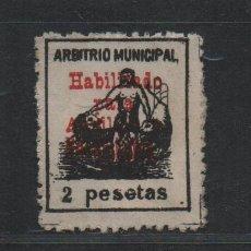Selos: CADIZ, 2 PTA, H BAJA, AUXILIO NECESITADOS, SOBRECARGA ROJA,VER FOTO. Lote 96960851