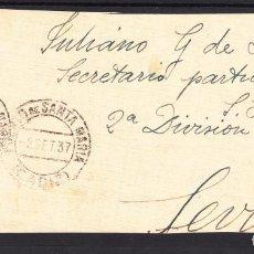 Sellos: ,,,05FRAGMENTO PUERTO DE SANTA MARIA A SEVILLA, DIRIGIDA AL SECRETARIO DEL GENERAL QUEIPO DE LLANO +. Lote 96981599