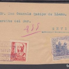 Sellos: ,,,04FRAGMENTO JEREZ CERTIFICADA A SEVILLA, DIRIGIDA AL GENERAL QUEIPO DE LLANO, Y LOCAL CADIZ. Lote 96982035