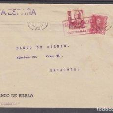 Sellos: ,,,20 FRONTAL SAN SEBASTIAN RODILLO MUDO A ZARAGOZA, CENSURA MILITAR SAN SEBASTIAN EN ROJO, MARCA P+. Lote 96985571