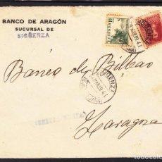 Sellos: ,,,22FRONTAL SIGUENZA A ZARAGOZA, CENSURA MILITAR,. Lote 96987567