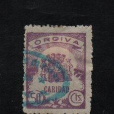 Sellos: ORGIVA, 50 CTS, CARIDAD, VER FOTO. Lote 97436663