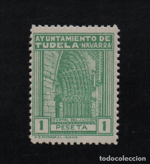TUDELA, 1 PTA, SELLO MUNICIPAL, VER FOTO (Sellos - España - Guerra Civil - De 1.936 a 1.939 - Usados)