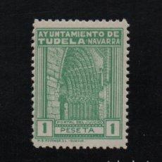 Sellos: TUDELA, 1 PTA, SELLO MUNICIPAL, VER FOTO. Lote 97438063