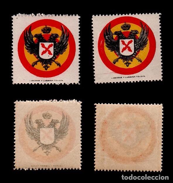 L21-5 GUERRA CIVIL -REQUETES GALVEZ Nº 1 EJEMPLAR, CON VARIEDAD COLOR NEGRO CALCADO SIN FIJASELLOS. (Sellos - España - Guerra Civil - Viñetas - Nuevos)