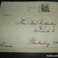 Sellos: SEVILLA 1937 CARTA CIRCULADA A ALEMANIA CENSURA MILITAR SELLO 50 CTS Y PRO SEVILLA AL DORSO. Lote 97661415