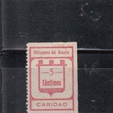 Sellos: VILLANUEVA DEL PUERTO. CARIDAD. 5 CTS.. Lote 97717927