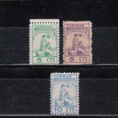 Sellos: CARIDAD GRANADINA. 3 SELLOS DE 5 (2) Y 10 CTS.. Lote 97719387