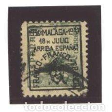 Sellos: ESPAÑA - MALAGA 1937- NRO. 42 - SELLO NACIONAL - USADO. Lote 98014963