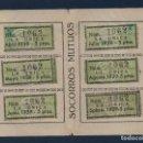 Sellos: MADRID,CARNET, SOCORROS MUTUOS -LA UNICA- CON 9 VIÑETAS DE 5 PTAS, FECHA ENERO/DIC. 1939, VER FOTOS. Lote 98127447