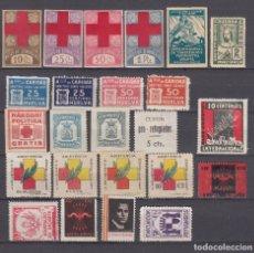Sellos: LOTE 24 VIÑETAS ZONA REPUBLICANA , ZONA NACIONAL , . Lote 98244879