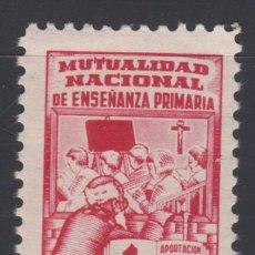 Sellos: VIÑETA MUTUALIDAD NACIONAL DE ENSEÑANZA PRIMARIA , 1 PTS . Lote 98446959