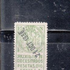 Sellos: SEVILLA. AUXILIO A NECESITADOS. 0,10 PTAS.. Lote 98499019