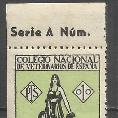 Sellos: C5-SELLO FISCAL REPUBLICA COLEGIO HUERFANOS VETERINARIOS NUEVO ** 1 PESETA.SPAIN REVENUE,FISCAUX.SPA. Lote 98563099