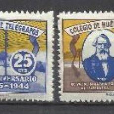 Sellos: C17-SERIE COMPLETA AÑO 1944 Nº26/9 .30,00€ NUEVOS ** HUERFANOS DE CORREOS Y TELEGRAFOS,FISCALES ,LOC. Lote 98567251