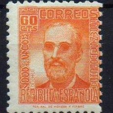 Sellos: 1936-1938 PERSONAJES REPUBLICA ESPAÑOLA EDIFIL 740** MNH VC 24,00. Lote 98603431