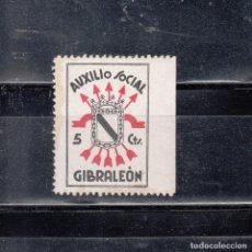 Sellos: GIBRALEON. AUXILIO SOCIAL. 5 CTS.. Lote 98649283