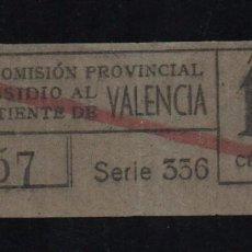 Sellos: VALENCIA, 10 CTS, SUBSIDIO AL COMBATIENTE, TIPO A. VER REVERSO, VER FOTOS. Lote 98677523
