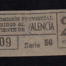 Sellos: VALENCIA, 25 CTS, SUBSIDIO AL COMBATIENTE, TIPO A. VER REVERSO, VER FOTOS. Lote 98677923