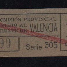 Sellos: VALENCIA, 10 CTS, SUBSIDIO AL COMBATIENTE, TIPO B. VER REVERSO, VER FOTOS. Lote 98678039