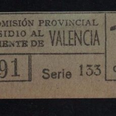 Sellos: VALENCIA, 15 CTS, SUBSIDIO AL COMBATIENTE, TIPO B. VER REVERSO, VER FOTOS. Lote 98678251