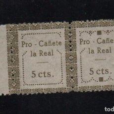 Sellos: PRO -CANETE LA REAL, 5 CTS, VERDE, PAREJA CON TIPO I Y II, VER FOTO. Lote 98679635