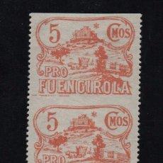 Sellos: FUENGIROLA, 5 CTS, PAREJA SIN DENTADO HORIZONTAL, VER FOTO. Lote 98998691