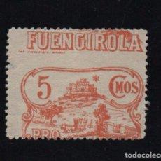 Sellos: FUENGIROLA, 5 CTS, VARIEDAD, FUENGIROLA PARTE SUPERIOR , DENTADO DESPLAZADO, VER FOTO. Lote 98998751