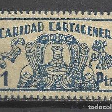 Sellos: C40-SELLO FALANGE ESPAÑOLA CARIDAD MURCIA CARTAGENA 1 PESETA,SELLO GUERRA CIVIL,SPAIN CIVIL WAR,SPAI. Lote 99050055