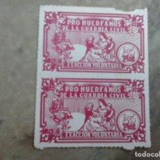 Sellos: SELLOS PRO HUERFANOS DE LA GUARDIA CIVIL. 25 PESETAS.. Lote 99178127