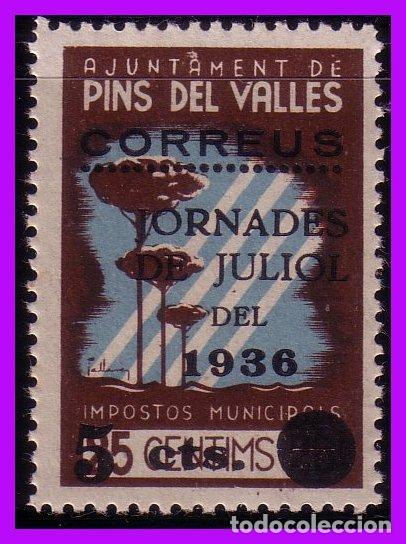 BARCELONA PINS DEL VALLÉS GUERRA CIVIL, FESOFI Nº 7 * * (Sellos - España - Guerra Civil - De 1.936 a 1.939 - Nuevos)