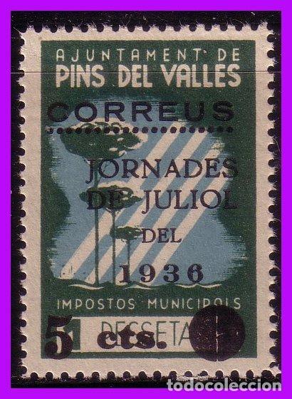 BARCELONA PINS DEL VALLÉS GUERRA CIVIL, FESOFI Nº 9 * * (Sellos - España - Guerra Civil - De 1.936 a 1.939 - Nuevos)